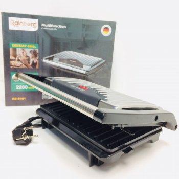 Электрогриль Rainberg RB-5401 антипригарный 2200В, c теплоизолированной ручкой
