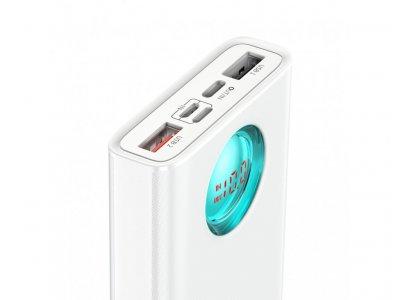 Повербанк Baseus 18W Quick Charge 20000mAh|2USB/Type-C/Lightning/Micro|для MacBook/iPad/iPhone/ Xiaomi/ Samsung/Huawei White