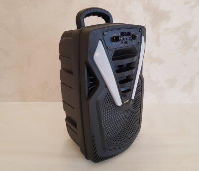 Колонка портативная акустическая Kimiso QS-4816 на аккумуляторе Bluetooth радиоприемник mp3-плеер TF карт / USB + микрофон + пульт ДУ
