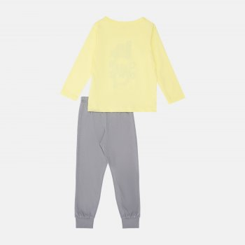 Пижама (футболка с длинными рукавами + штаны) Smil Explore 104825 Желтая