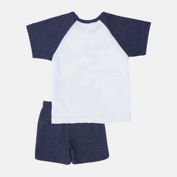 Пижама (футболка + шорты) Smil Explore 104826-1 Белая