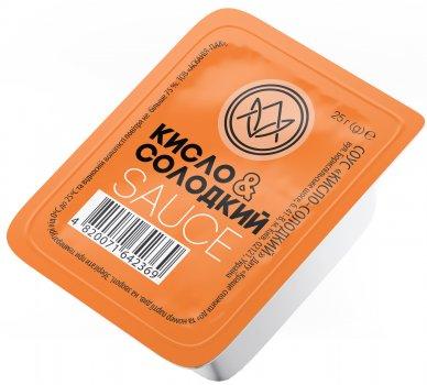 Упаковка соуса в дип-паках Асканія Кисло-сладкий 25 г х 48 шт (4820071643311)