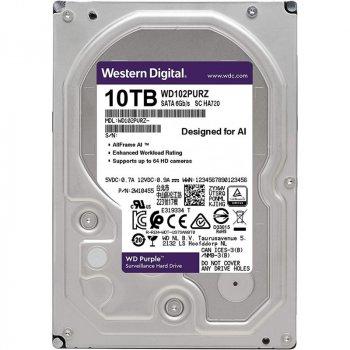 Жорсткий диск 3.5 Western Digital Purple 10TB 7200rpm 256MB SATAIII (WD102PURZ)