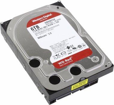 Жорсткий диск 3.5 Western Digital Red 6TB 5400rpm 256MB SATAIII (WD60EFAX)