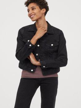 Куртка джинсовая H&M 0399061-0 Черный