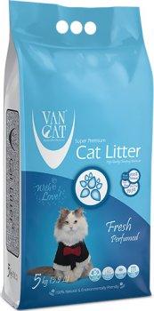 Наполнитель для кошачьего туалета Van Cat Super Premium Quality Fresh Бентонитовый комкующий 5 кг (6 л) (8699245856323)
