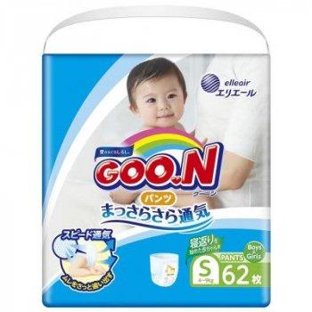 Підгузник GOO.N Трусики для активних дітей 4-9 кг (унісекс, 62 шт) (853625)