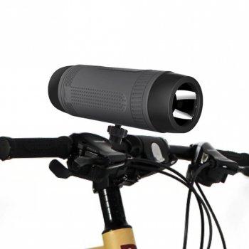 Бездротова велосипедна bluetooth колонка ZeaLot S1 Сіра