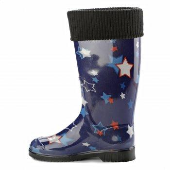 Резиновая обувь женские Casual Кеж-А 201 Звезды на синем-182
