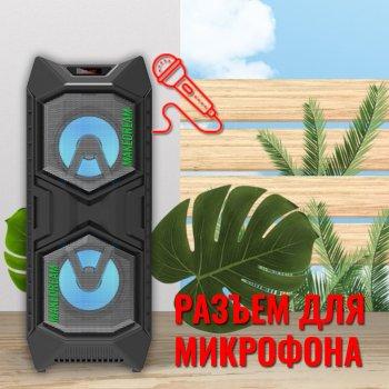 Большая Акустическая система BIG BASS JBK-8878 переносная беспроводная колонка Bluetooth с FM-радио и разъёмом для микрофона 10 Вт Black (L1061)
