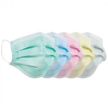 Медицинские маски Волес Колормикс трехслойные 50 шт (503131)