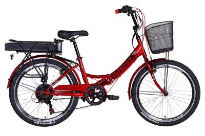 """Электровелосипед Formula SMART 15"""" 500Вт 48В редуктор. дисплей, САП, 12.5Ач с крепл. к багажн., вишневый 2021"""