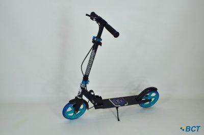 Самокат Amigo Sport New Groove чорно-синій з ручним гальмом + дзвінок