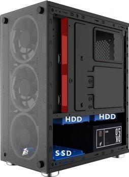 Корпус 1stPlayer X2-3R1 Color LED Black