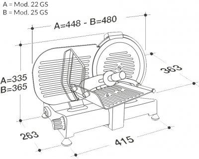 Слайсер (ломтерезка) RGV 220 GS