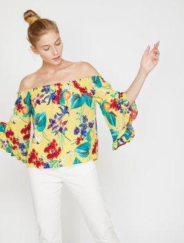 Блузка Koton 0KAL68872IW-01I Yellow Design