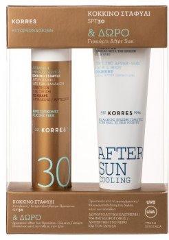 Сонцезахисний набір для тіла й обличчя Korres SPF30 50 мл х 2 шт. (5203069091636)