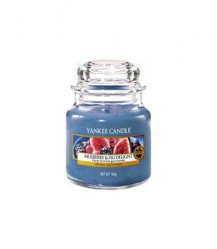 ароматическая свеча ШЕЛКОВИЦА, ИНЖИР / Yankee Candle MULBERRY & FIG DELIGHT small jar 1556247E