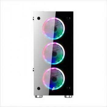 Корпус 1stPlayer V6-4R1 Color LED Black без БП