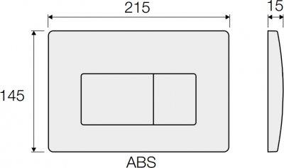 Панель смыва VALSIR Tropea S P1 VS0871302 черная глянцевая