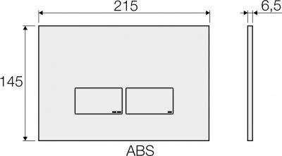 Панель смыва VALSIR Tropea S P3 VS0869237 сатин матовая
