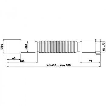 Гибкая Труба Ani Plast К106 1 1/2Х40/50