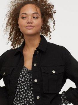 Джинсовая куртка H&M 0805525-1 Черная