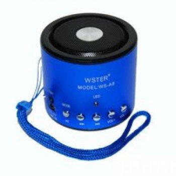 Портативна бездротова колонка WSTER WS-A8 Original (2-00246-02) Синій