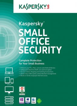 Антивирус Kaspersky Small Office Security лицензия на 1 год для защиты 9 рабочих станций, 1 файлового сервера и 9 мобильных устройств (KL4541OCJFS)