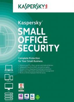 Антивирус Kaspersky Small Office Security лицензия на 1 год для защиты 10 рабочих станций, 1 файлового сервера и 10 мобильных устройств (KL4541OCKFS)