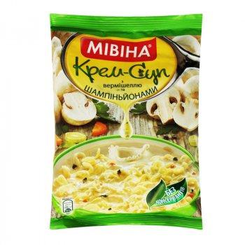 Упаковка крем-супу МІВІНА Вермішель Гриби 67 г х 44 шт (4820048619790_7613039125625)