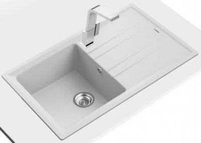 Кухонна мийка TEKA Stone 50 B-TG 1B 1D білий 115330019