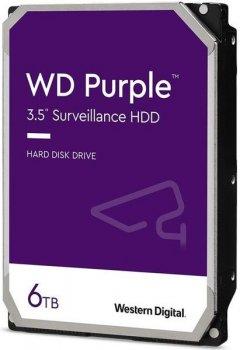 "Жесткий диск WD 3.5"" SATA 3.0 6TB 5400 128MB Purple Surveillance (WD62PURZ)"