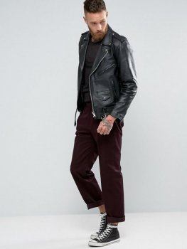 Узкие брюки бордового цвета Religion ASA050920-5 Бордовый