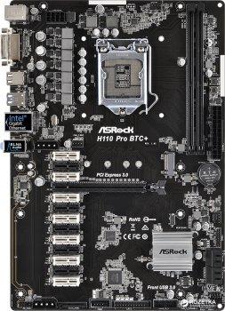 Материнська плата ASRock H110 Pro BTC+ Socket 1151