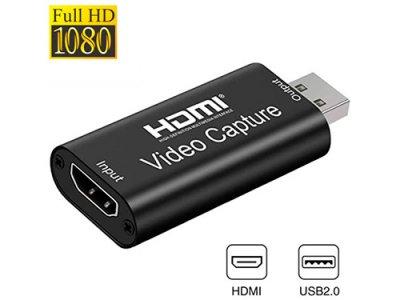 Карта видеозахвата Kuyia внешняя, портативная, USB, HDMI, 1080p, 60fps (116234)
