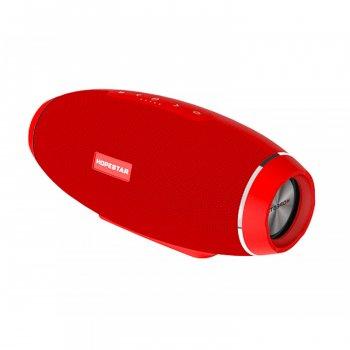 Колонка Hopestar H20 беспроводная 2*8 ВТ+15 ВТ с функцией Bluetooth + mini Jack 3,5 мм и microSD Красная (12167)