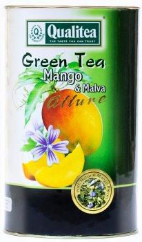 Зеленый чай Qualitea крупнолистовой с манго и цветами синей мальвы 100 г (4791014012603)