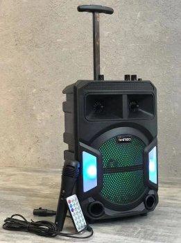 """Колонка портативная с Проводным микрофоном KIMISO QS-838 (8""""BASS) Bluetooth / Колонка ручная для музыки"""