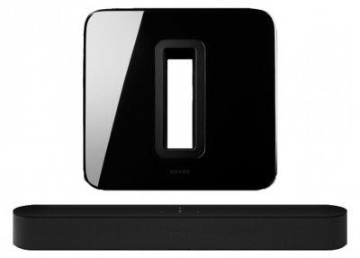 Беспроводная аудиосистема Sonos 3.1 Beam & Sub Black