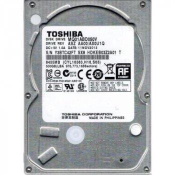 Жесткий диск для ноутбука 2.5 дюйма 500GB TOSHIBA (# MQ01ABD050V #)