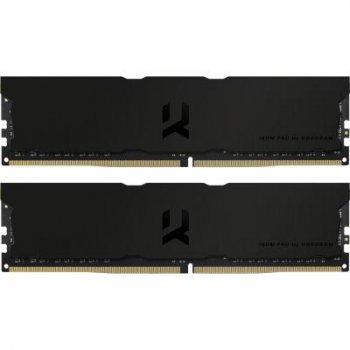 Модуль памяти для компьютера DDR4 16GB (2x8GB) 3600 MHz Iridium Pro Deep Black GOODRAM (IRP-K3600D4V64L18S/16GDC)