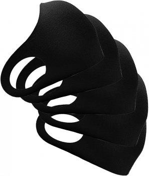 Набор защитных неопреновых многоразовых масок XoKo M/S 5шт Черный (XK-PTN-BK5)