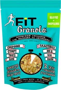 Упаковка граноли Good morning Granola Fit Яблуко + Смородина 125 г х 6 шт. (4820192180139)
