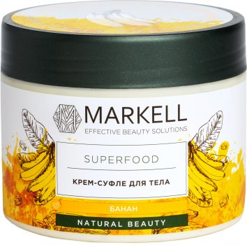 Крем-суфле для тіла Markell SuperFood Банан 300 мл (4810304017804)
