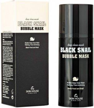Маска The Skin House кислородная с улиткой и древесным углем Black Snail Bubble Mask 100 мл (8809080823217)