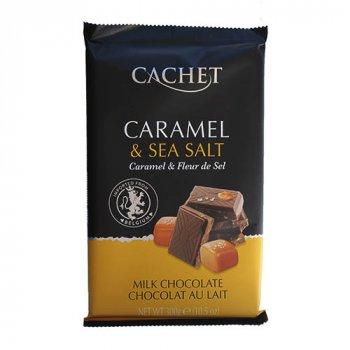 Шоколад Cachet Caramel and Sea Salt карамель и морская соль 300 г (00-00001177)