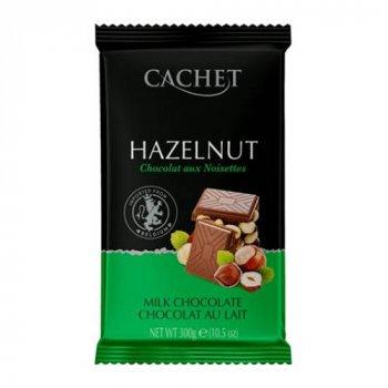 Cachet Milk Chocolate 32% with Hazelnut - Кашет Молочный с Фундуком 300г (00-00001178)