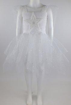 Платье Льдинка Seta Decor 19-1023WT Белое с серебристым (2000048634012)