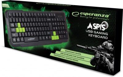 Клавиатура проводная Esperanza Wired EGK102 USB Green (EGK102GUA)